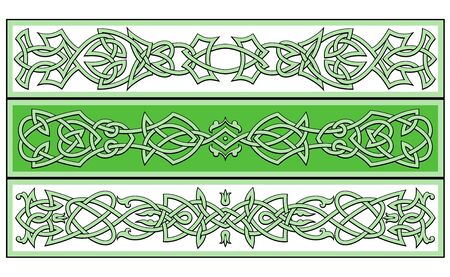 gaelic: Celtic ornaments and patterns for irish or religious design