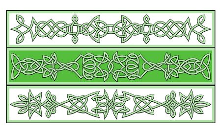 celtic culture: Celtic ornaments and patterns for irish or religious design