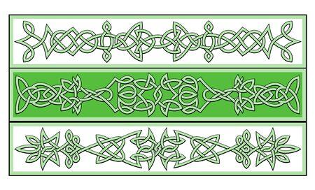 keltische muster: Keltische Ornamente und Muster f�r irische oder religi�sen design Illustration