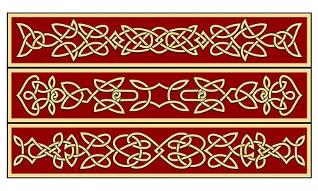 art deco design: Celtic ornaments and patterns for irish or religious design