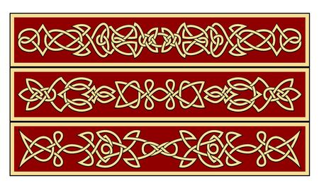 celtic symbol: Celtic ornaments and patterns for irish or religious design