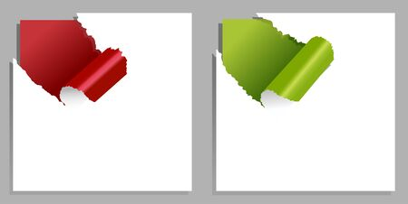 Elements of torn paper with edges for design Vector