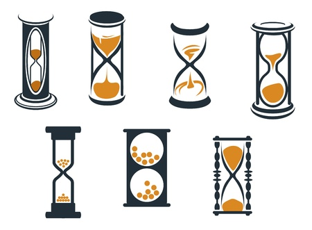 Hourglass symbols and icons for time concept and design Vector