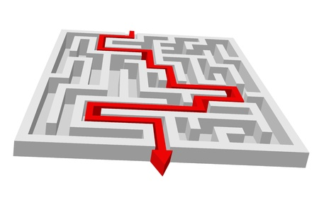 Labyrinth - maze puzzle for solution or search concept Vector