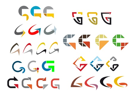 Set of alphabet symbols and elements of letter Vector