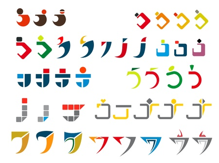 alphabetical letters: Conjunto de s�mbolos del alfabeto y los elementos de la letra J