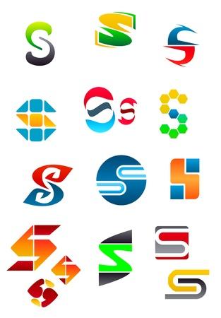 buchstabe s: Alphabet-Symbole und Elemente des Buchstaben S