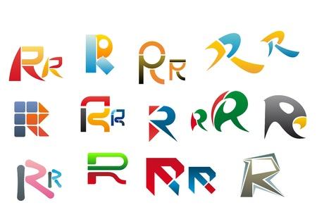 alphabetical letters: Conjunto de s�mbolos del alfabeto y elementos de la letra r