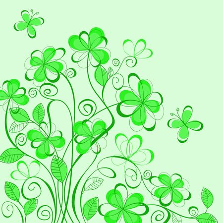 Abstract green spring pattern for design as a background Vector
