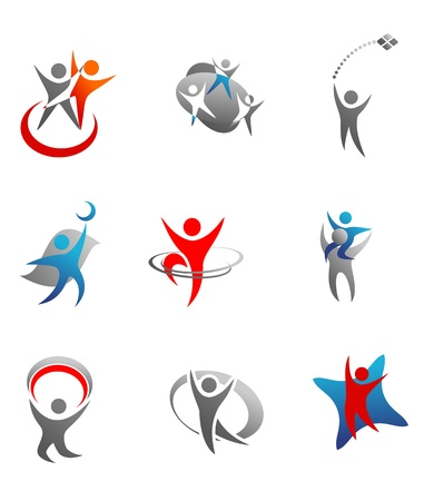 Isolated people signs and symbols for design Stock Vector - 10618772