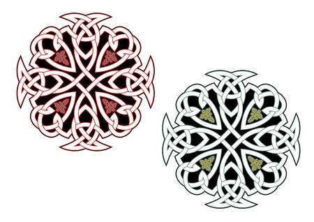 keltische muster: Celtic Ornamente und Muster für irische oder religiösen Design