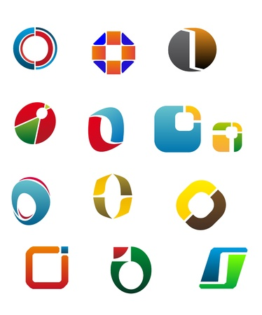 Set Of Alphabet Symbols And Elements Of Letter O Vector