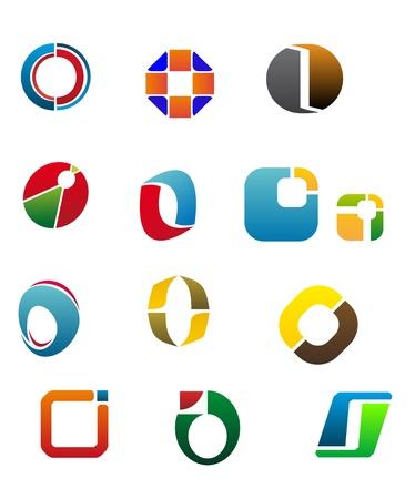 cocao: Set Of Alphabet Symbols And Elements Of Letter O Illustration