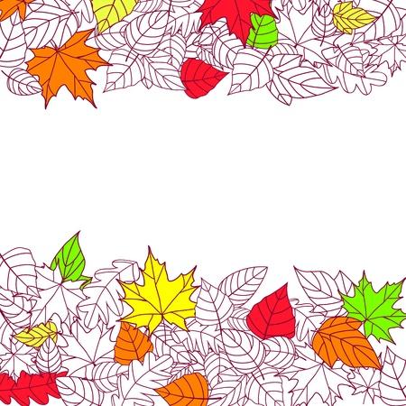 elm: Autumn Leaves Silhouettes Background For Seasonal or Thanksgiving Design Illustration