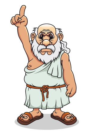 ancient roman: Ancient greek man in cartoon style for comics design Illustration