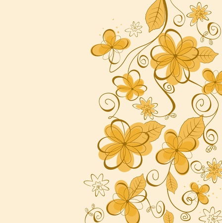 color swatch: Summer flowers pattern for design as a background