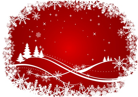 Winter Christmas or new year background for holiday design Stock Vector - 10859205