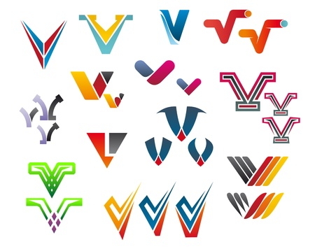 abstract letters: Set of alphabet symbols and elements of letter V