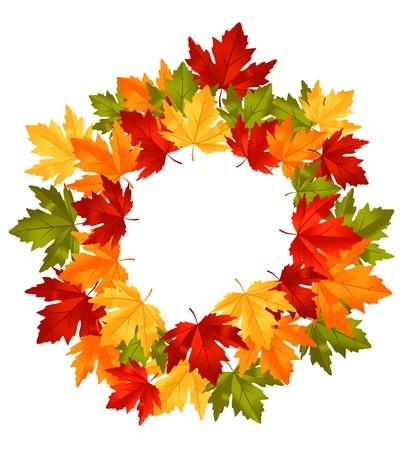 La caída de las hojas de otoño en el marco de la temporada o el diseño de la acción de gracias