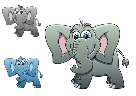 Cute elephant baby isolated on white background for design Stock Vector - 10915344