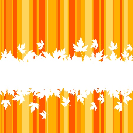 fall background: Falling leaves on colorful background for seasonal design Illustration