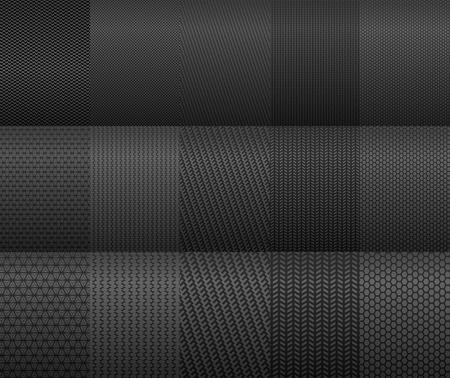dark fiber: Carbon fiber en achtergronden voor textuur ontwerp Stock Illustratie