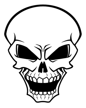 Danger skull as a warning or evil concept