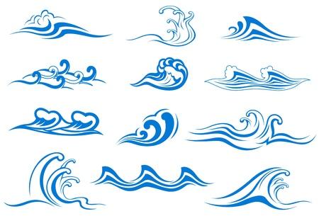 Set van golf symbolen voor ontwerp op wit wordt geïsoleerd