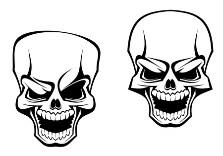 skull tattoo: Danger skull as a warning or evil concept