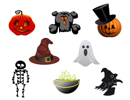 Isolated halloween icons and symbols for design Stock Vector - 10942581