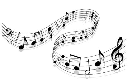 notas musicales: Toma nota con elementos de la m�sica como un dise�o de fondo musical