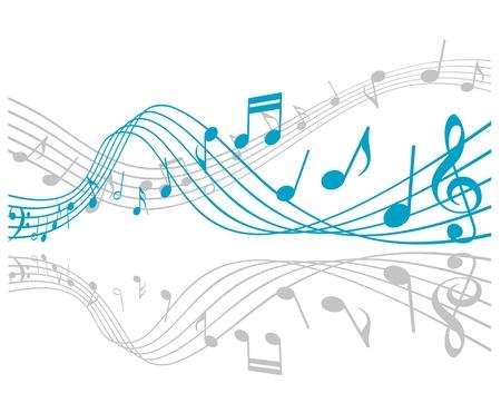Opmerkingen met muziek elementen als een muzikale achtergrond ontwerp