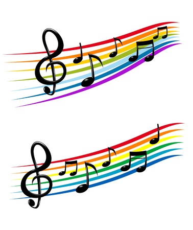 musical note: Notes with music elements as a musical background design Illustration