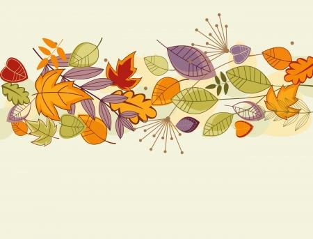 hojas parra: Otoño colorido deja el Fondo para el diseño de acción de gracias Vectores