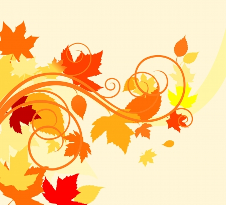 fall foliage: Autumn colorful leaves background for thanksgiving design Illustration