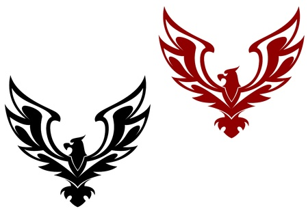 Eagle symbol isolated on white for design Vector