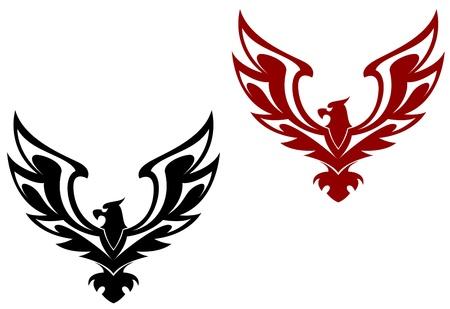 falcon: Eagle symbol isolated on white for design