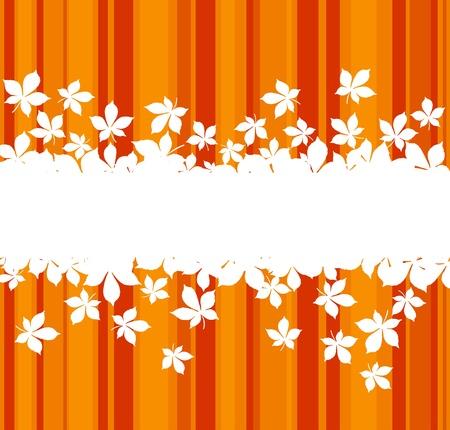 orange trees: Autumnal  leaves background with frame for seasonal design