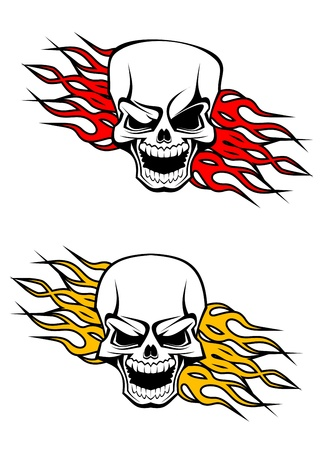 Danger skulls as a tattoo or evil concept Stock Vector - 11006247