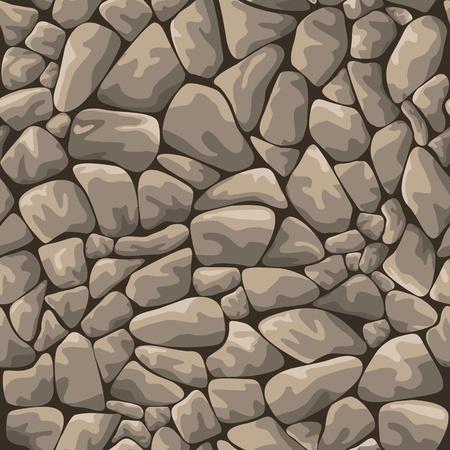 자갈: 디자인과 장식 원활한 바위 돌 배경 일러스트