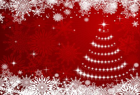 Winter Christmas or new year background with snowflakes for holiday design Vector