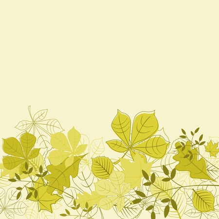 oak leaves: Autumnal leaves on background for seasonal design Illustration