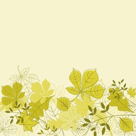 macro leaf: Autumnal leaves on background for seasonal design Illustration