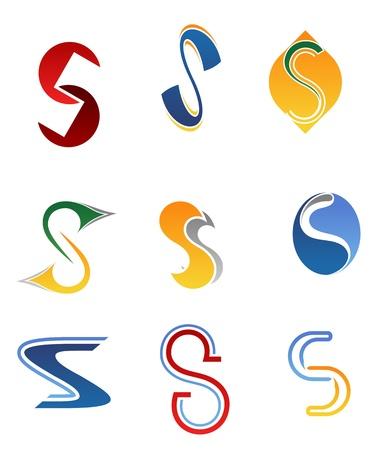 lettre s: Jeu de symboles de l'alphabet et les éléments de la lettre S