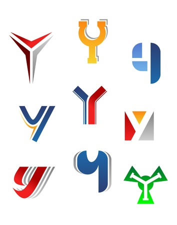 write a letter: Set of alphabet symbols and elements of letter Y