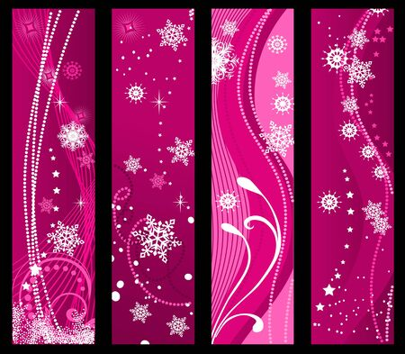 Christmas and winter banners for holiday design Vector
