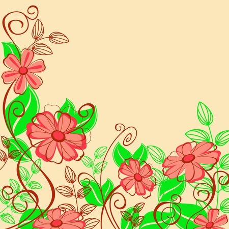 Abstract spring flower pattern for design as a background Vector