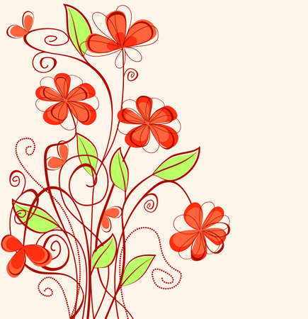 color swatch: Abstract spring flower pattern for design as a background