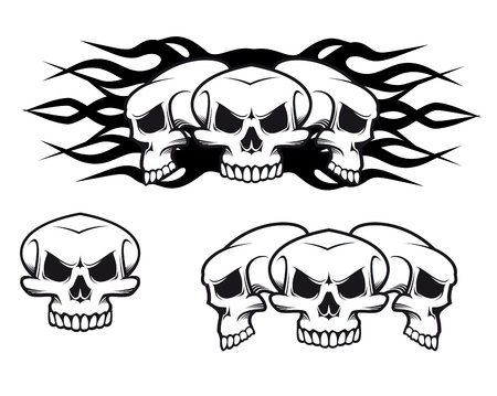 Danger skulls as a tattoo or evil concept Stock Vector - 11082435