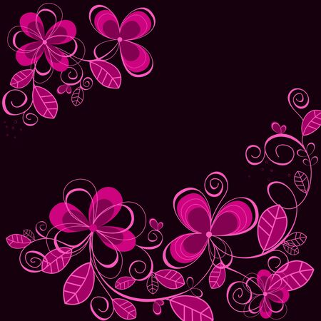 Purple floral background for textile or invitation card design Vector